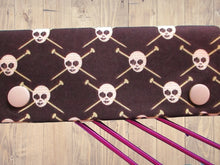 Load image into Gallery viewer, Knitting Needle Cozy - Project Keeper - Michael Miller Skulls