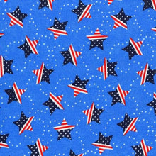 Load image into Gallery viewer, Pleated Face Mask with Elastic - Americana Patriotic Stars Light Blue