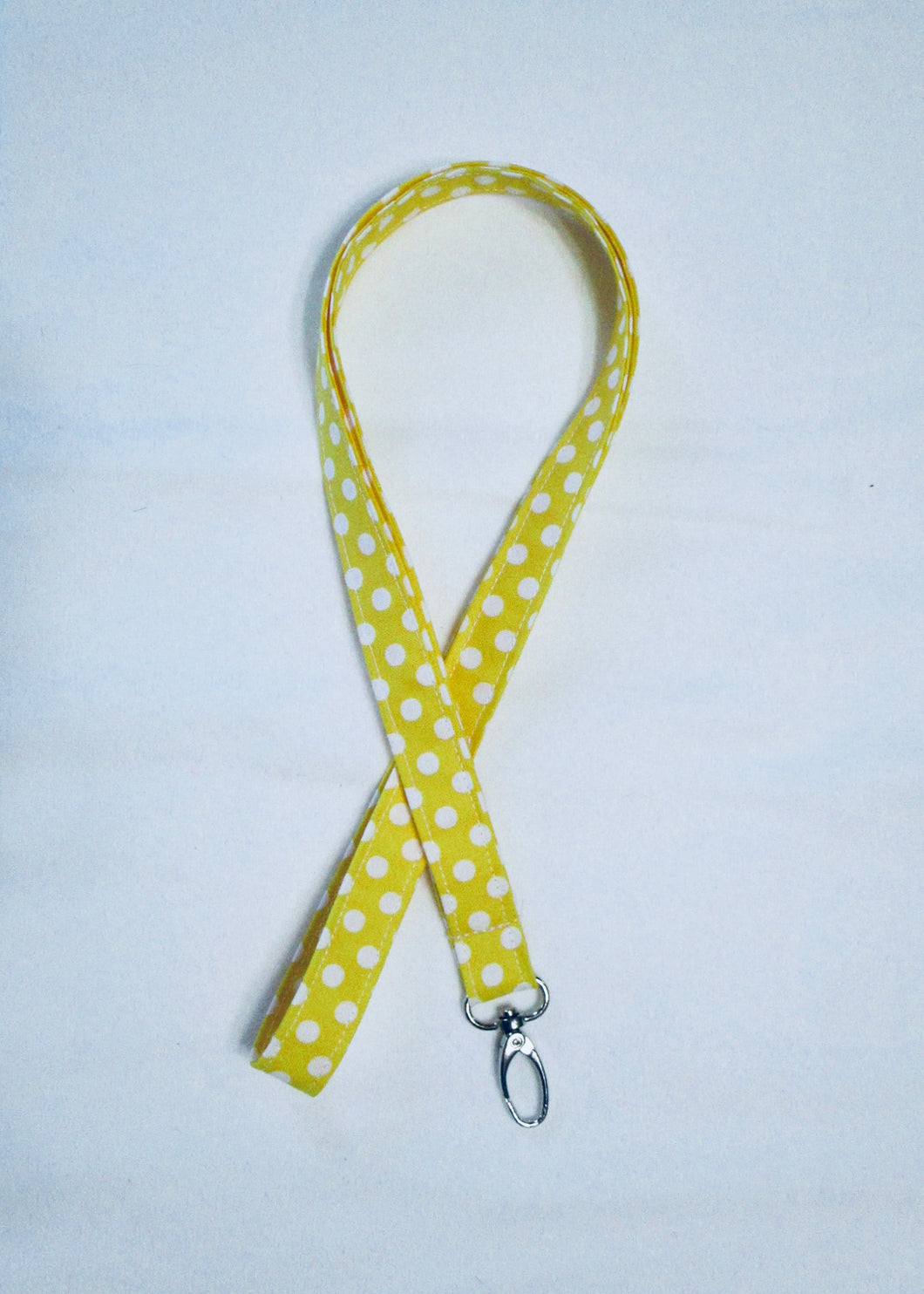 Polka Dot Seamless Cotton Lanyard - Choose from 4 Bright Color Options