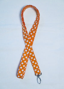 Polka Dot Seamless Cotton Lanyard - Choose from 4 Bright Color Options - Beachside Knits N Quilts