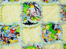 Load image into Gallery viewer, Stroller Rag Quilt Zoo Animals