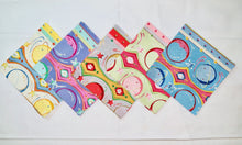 "Load image into Gallery viewer, Moon & Planet Stripe 5"" Charm Squares - Set of 40 - Astro Collection - Felicity Miller"