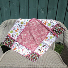 "Load image into Gallery viewer, Big Block Rag Quilt - 32"" x 37"" - Beachside Knits N Quilts"