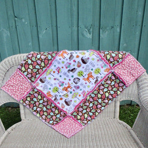 "Big Block Rag Quilt - 32"" x 37"""