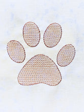 Load image into Gallery viewer, Paw Print - Machine Embroidery Design - 4x4 Hoop - FREE DOWNLOAD - Beachside Knits N Quilts