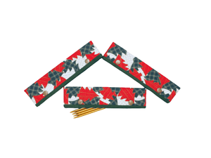 Knitting Needle Cozy - Project Keeper - Christmas Trees