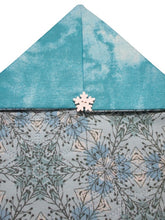 Load image into Gallery viewer, Quilted Table Runner or Dresser Scarf - Blue Snowflakes