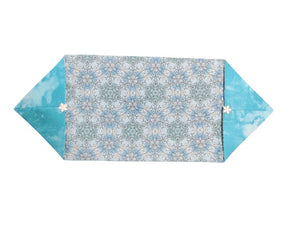 Quilted Table Runner or Dresser Scarf - Blue Snowflakes