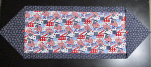 Quilted Table Runner or Dresser Scarf - Patriotic - Beachside Knits N Quilts