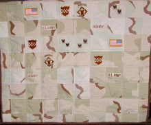 "Load image into Gallery viewer, Memory Quilt - Throw Size - 45"" x 60"" - Custom Order"