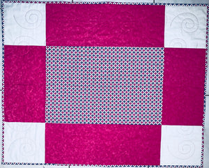 "Handmade Big Block Quilt - 32"" x 40"" - Lap or Child Size - Beachside Knits N Quilts"