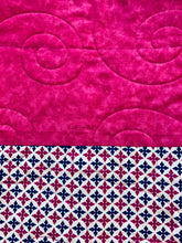 "Load image into Gallery viewer, Handmade Big Block Quilt - 32"" x 40"" - Lap or Child Size - Beachside Knits N Quilts"