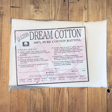 Quilters Dream Cotton Batting - Throw Size - 60