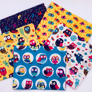 Happy Owls by Craft Cotton Collection - Fat Quarter Bundle - Beachside Knits N Quilts
