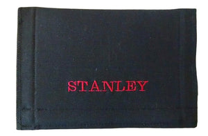 "Personalized Fishing Lure Wrap 10"" x 3.5"" Cover Black - Beachside Knits N Quilts"
