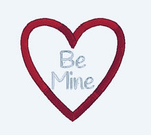 Load image into Gallery viewer, Be Mine Valentine Applique Embroidery Design - Instant Download | Beachside Knits N Quilts