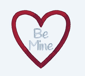 Be Mine Valentine Applique Embroidery Design - Instant Download | Beachside Knits N Quilts