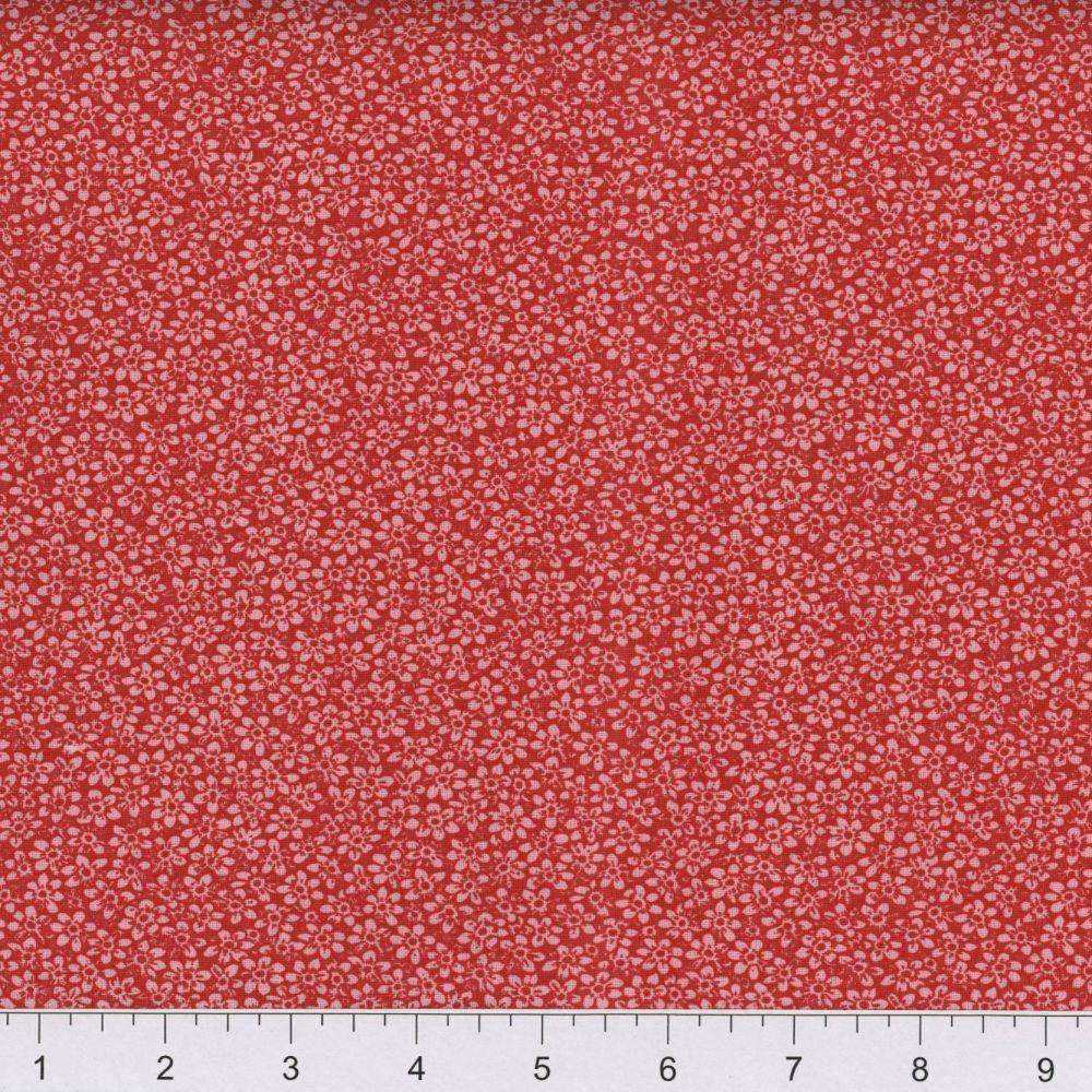 Cotton Fabric Red Calico End of Bolt - Beachside Knits N Quilts
