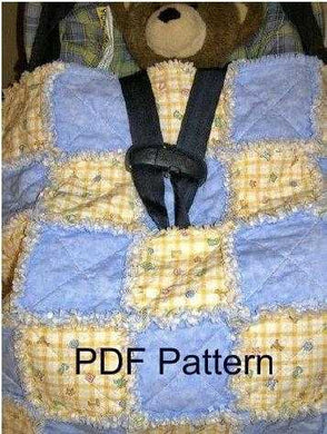 Stroller Rag Quilt Pattern for Infant, Baby, Toddler, Reborn - PDF Download - DIY - Full Color 4 Page Detail - Photo Step-by-Step Directions - Beachside Knits N Quilts