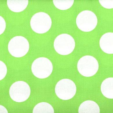 Cotton Fat Quarter - Bigger Dot - Lime Green - Beachside Knits N Quilts
