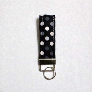 Polka Dot Mini Key Chain Key Fob | Beachside Knits N Quilts