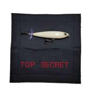 "Top Secret Fishing Lure Wrap 7"" x 3.5"" Cover Black 