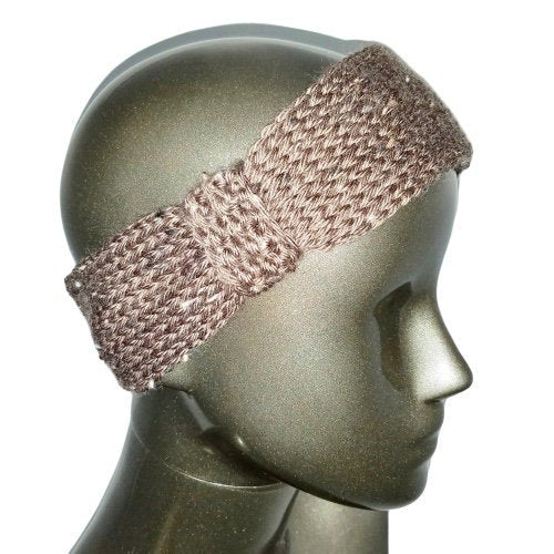 Knitted Headband - Chocolate Tweed - Beachside Knits N Quilts