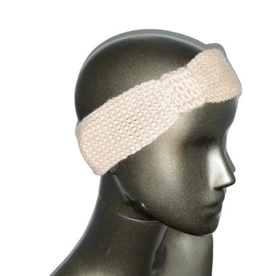 Headband Ear Warmer Knitted Oyster Beige | Beachside Knits N Quilts