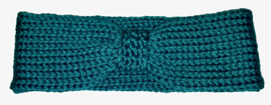 Headband / Ear Warmer / Head Warmer / Knitted / Teal | Beachside Knits N Quilts