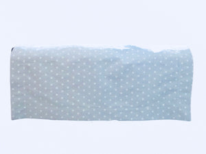 "Flannel Receiving Blanket - Reversible - Boy - Blue Gray - 31"" x 31"" - Sheep - Polka Dot 