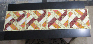 Quilted Table Runner - Fall Colors - String Blocks - 100% Cotton - Ready to Ship | Beachside Knits N Quilts