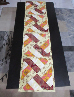 Quilted Table Runner - Fall Colors - String Blocks - Beachside Knits N Quilts
