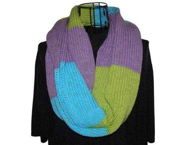 Pixiepop Infinity Scarf Purple Green Teal Knitted | Beachside Knits N Quilts