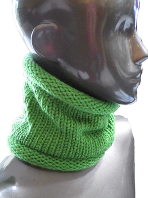 Snug Fit Slouchy Cowl - Bulky Weight - Casual - Knitted - Grinch Green - Avocado Green | Beachside Knits N Quilts