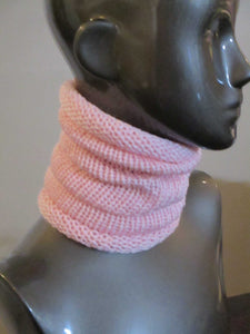 Snug Fit Slouchy Cowl - Blush Pink - Casual - Knitted | Beachside Knits N Quilts