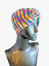 Load image into Gallery viewer, Twisted Headband Ear Warmer Head Warmer Knitted Striped | Beachside Knits N Quilts