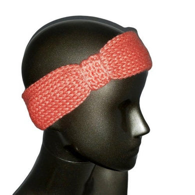 Headband / Ear Warmer / Head Warmer / Knitted / Conch - Salmon | Beachside Knits N Quilts