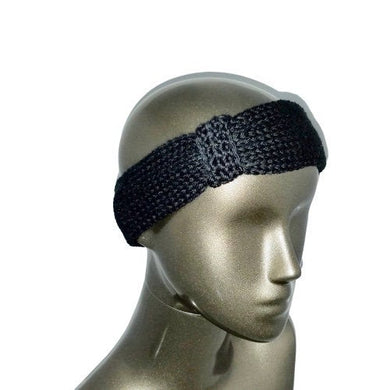 Headband Ear Warmer Knitted Black | Beachside Knits N Quilts