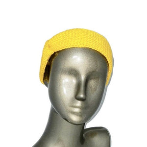 Headband Ear Warmer Knitted Yellow | Beachside Knits N Quilts