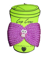 Load image into Gallery viewer, Set of 3 - Knitted Coffee Cozy with Button - Hot or Cold Drink Sleeve | Beachside Knits N Quilts