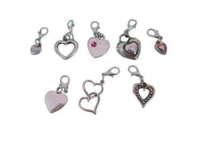 Removable Knitting Stitch Markers - Hearts - Set of 8 - Lobster Claw Clasp - Beachside Knits N Quilts