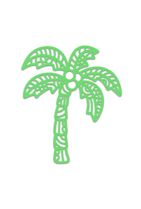 Palm Tree Vinyl Decal - Beachside Knits N Quilts
