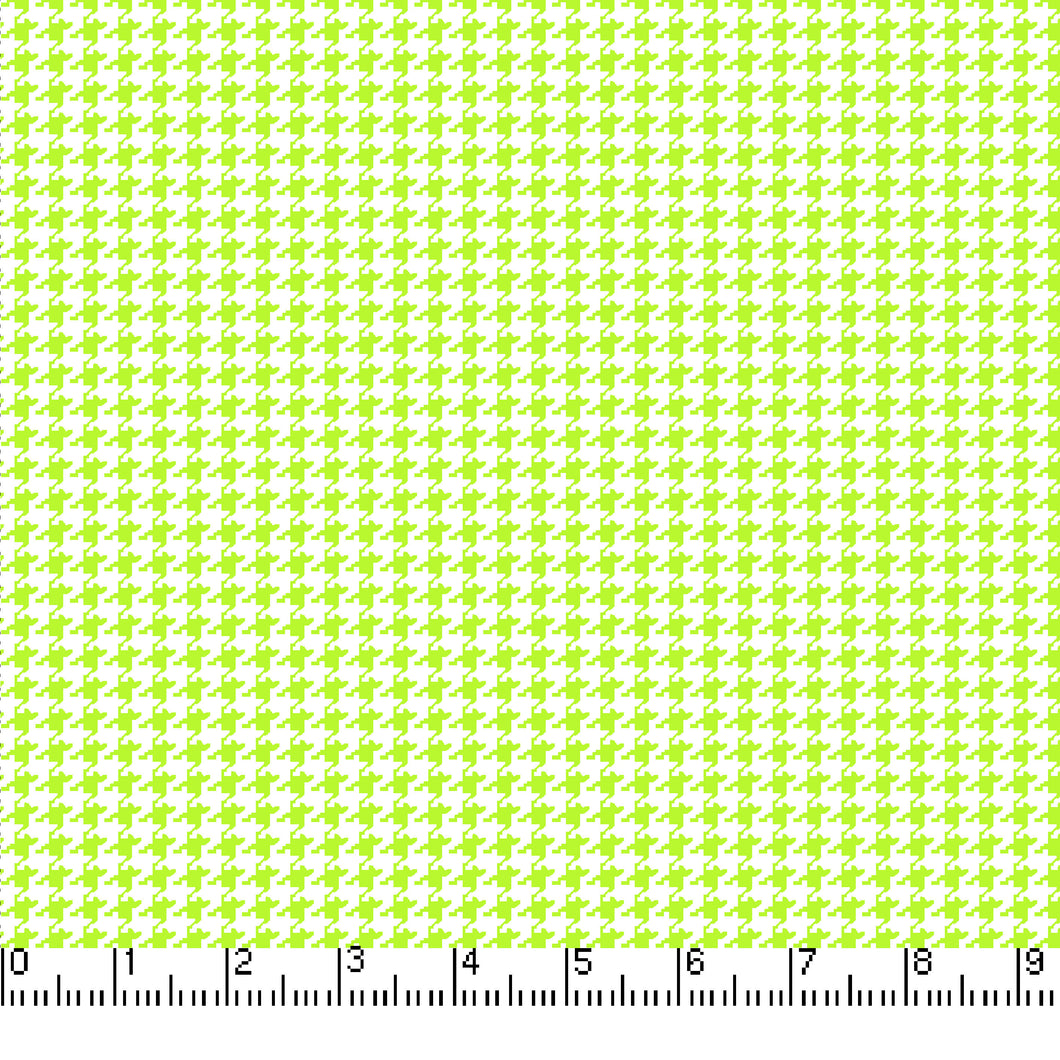 Happy Houndstooth Cotton Quilting Fabric - Lime - LAST YARD | Beachside Knits N Quilts