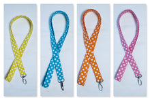 Load image into Gallery viewer, Polka Dot Seamless Cotton Lanyard - Choose from 4 Bright Color Options