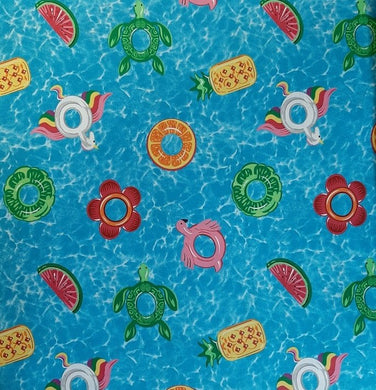 Cotton Fabric - Fabric Traditions - Pool Floaties