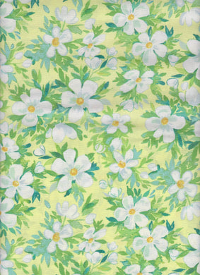 Cotton Fabric - Keepsake Calico - Luau Floral Yellow