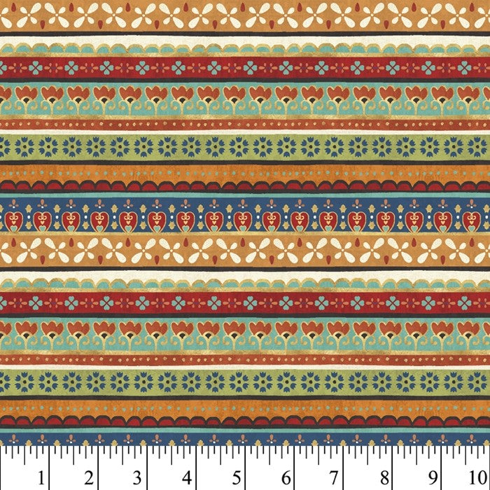 LA VIDA LOCA STRIPES 1 YD COTTON CUT - Beachside Knits N Quilts
