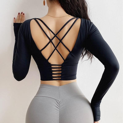 Not Your Baby: Long Sleeve Crop Top - Trill Athletics