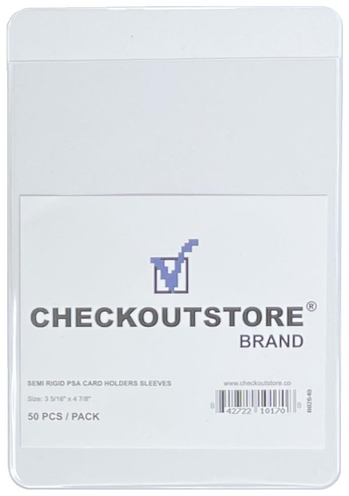 CheckOutStore Card Protector CheckOutStore Clear Semi Rigid Card Holders for PSA/BGS Grading (3 5/16 x 4 7/8 in)