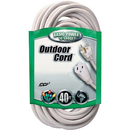 CheckOutStore.com [FG-EXTCORD] Coleman Cable 16/3 SJTW Outdoor 40' Vinyl Extension Cord